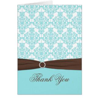 Azul do Aqua, Brown, cartões de agradecimentos