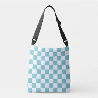 Azul do Aqua Checkered Bolsa Ajustável