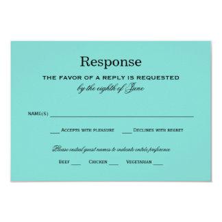 Azul do Aqua do cartão | da resposta do casamento Convite 8.89 X 12.7cm