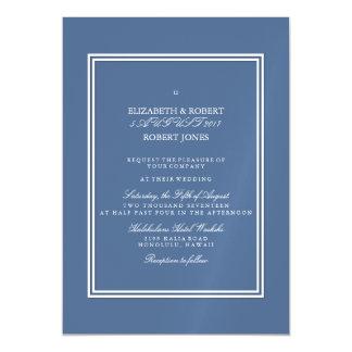 Azul do beira-rio com detalhe branco do casamento