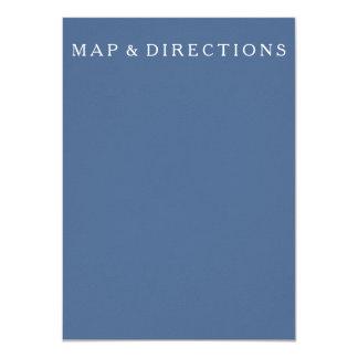 Azul do beira-rio com detalhe branco do casamento convite 11.30 x 15.87cm