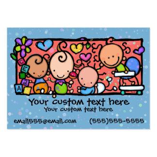 AZUL do berçário da guarda das crianças dos bebês Cartão De Visita Grande