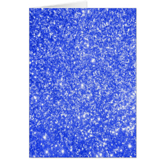 Azul do brilho cartão comemorativo