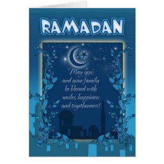 Azul do cartão de Ramadan