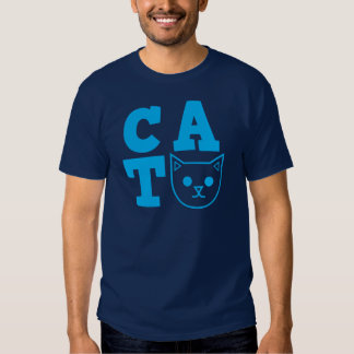 Azul do CAT T-shirt