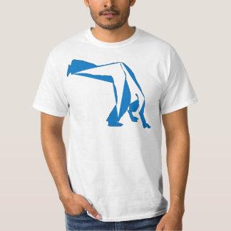 azul do compasso do capoeira do t-shirt camiseta