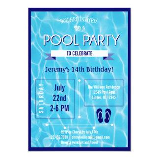 Azul do convite da festa na piscina