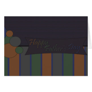 Azul do dia dos pais cartão comemorativo