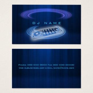 Azul do DJ Cartão De Visitas