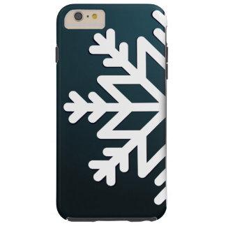 Azul do floco de neve do Feliz Natal Capas iPhone 6 Plus Tough