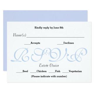 Azul do fundo - cartão da resposta da recepção de convite 8.89 x 12.7cm