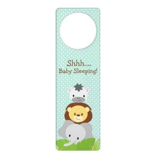 Azul do gancho de porta do berçário do bebê da sinais de porta