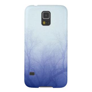 Azul do inverno das árvores da natureza capas par galaxy s5