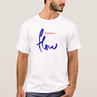 azul do logotipo da snowboarding do fluxo camiseta