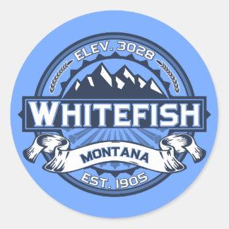 Azul do logotipo do peixe branco adesivo