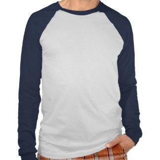 Azul do logotipo do peixe branco tshirts