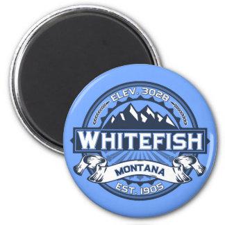 Azul do logotipo do peixe branco imãs de refrigerador
