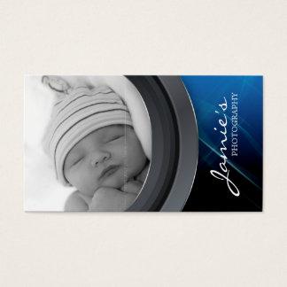 Azul do modelo da foto do cartão de visita da