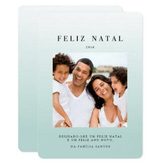 Azul do ombré dos comemorativos | de Cartões Convite 12.7 X 17.78cm