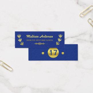 Azul do ouro da inserção do último ano do cartão