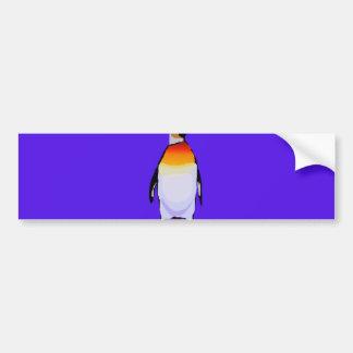 Azul do pinguim adesivo para carro