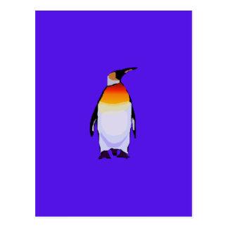 Azul do pinguim cartão postal