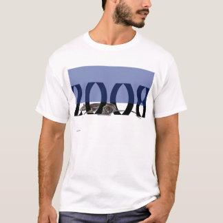 Azul do rato 2008+Branco Camiseta