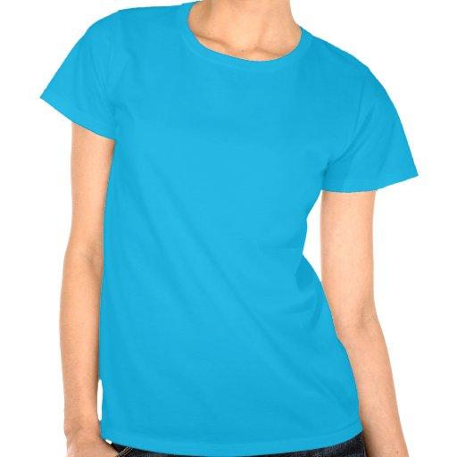 Azul do t-shirt do RealistBoss da mulher