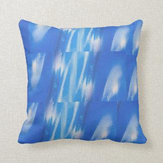 Azul do verão travesseiro