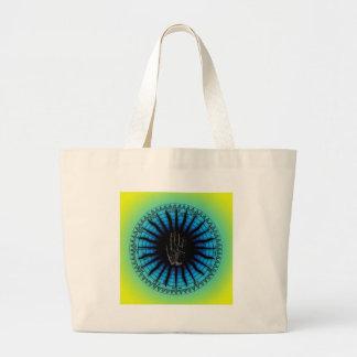 Azul do verde do zodíaco da leitura da palma de bolsa para compras