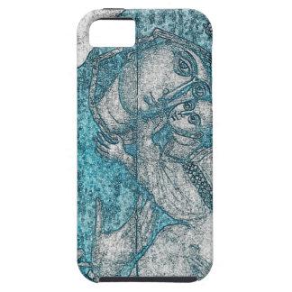 Azul do vintage do retrato do anjo de Jesus do Capas Para iPhone 5