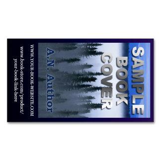 Azul do Web site da capa do livro da promoção do