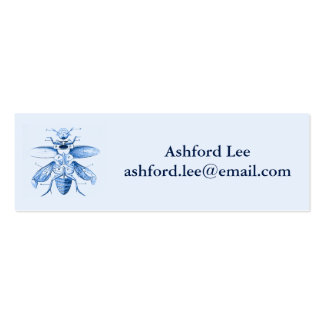 Azul dos besouros | da imagem | do inseto do cartão de visita skinny