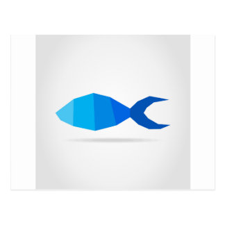 Azul dos peixes cartão postal