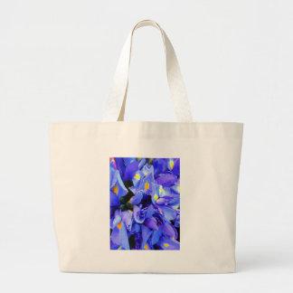 Azul e amarelo bolsa para compras