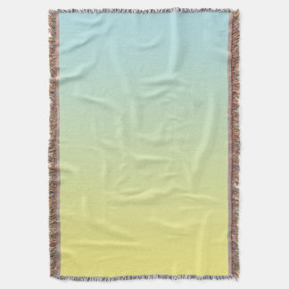 Azul e amarelo throw blanket