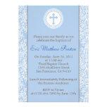 Azul e baptismo de Brown/convite do batismo