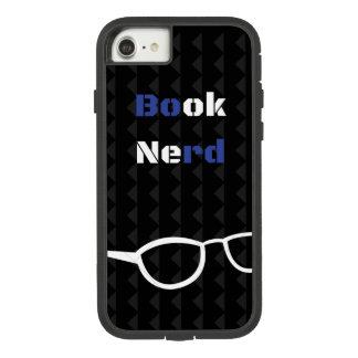 Azul e branco do preto da capa de telefone do nerd