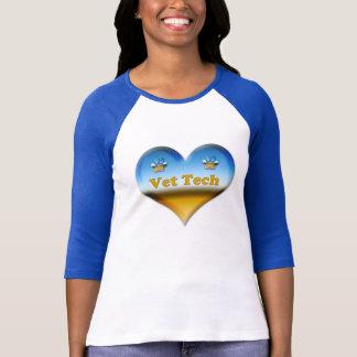 azul e branco do T da tecnologia do veterinário Camiseta