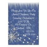 Azul e convite de festas do White Christmas
