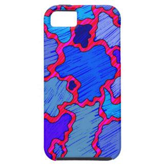 Azul e cor-de-rosa abstratos capa tough para iPhone 5