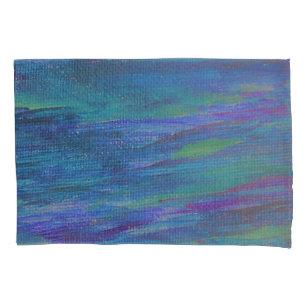 azul e fronha de almofada pintada roxo