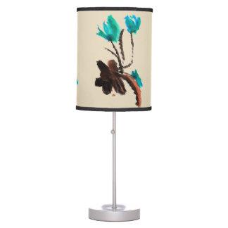 Azul e lâmpada de Brown