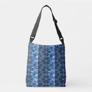 Azul e o bolsa floral afligido preto do teste