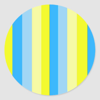 Azul e ouro listrados adesivo