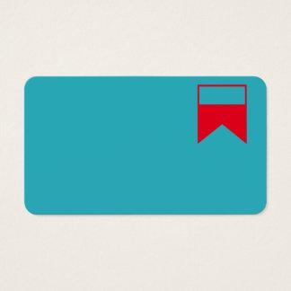 azul e vermelho do cartão