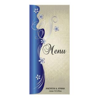 Azul elegante e prata da safira do design | do 10.16 x 22.86cm panfleto