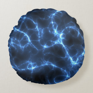 Azul elétrico almofada redonda