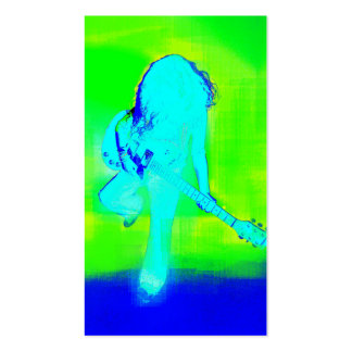 Azul elétrico - cartão de visita