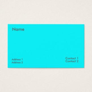 azul elétrico cartão de visitas